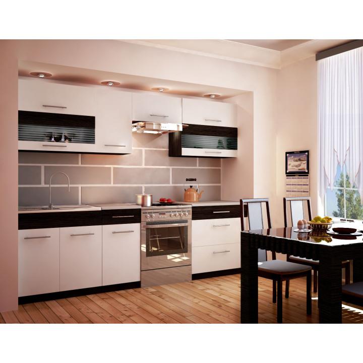 Kuchyňská linka KOTE 260 cm bílá/wenge
