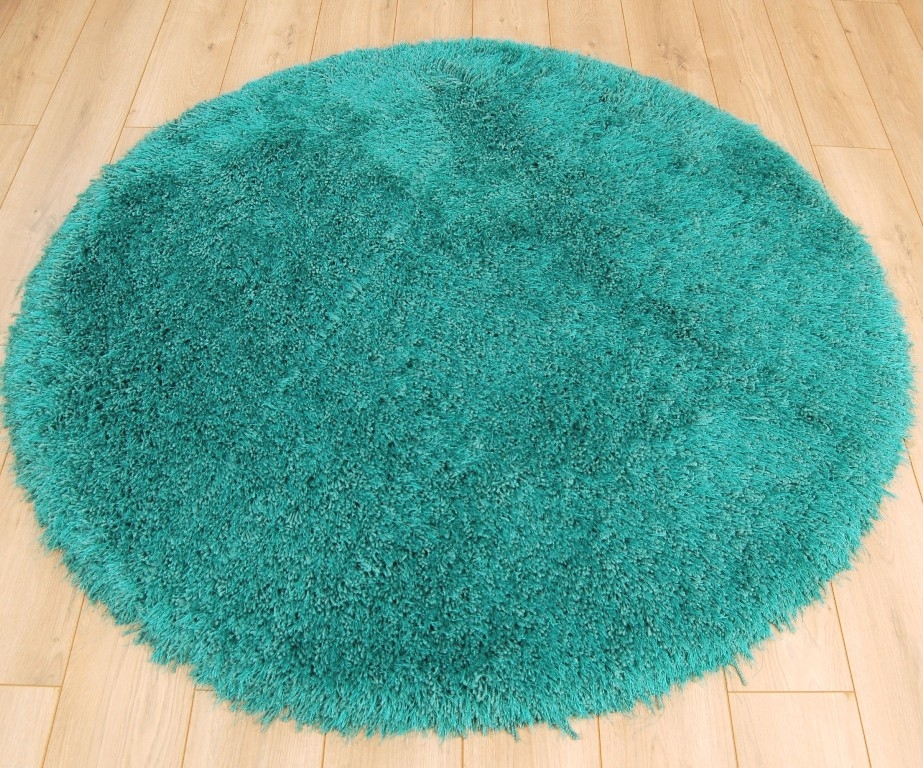 Masiv24 - Cascade okrúhly koberec 160cm - tmavofialová