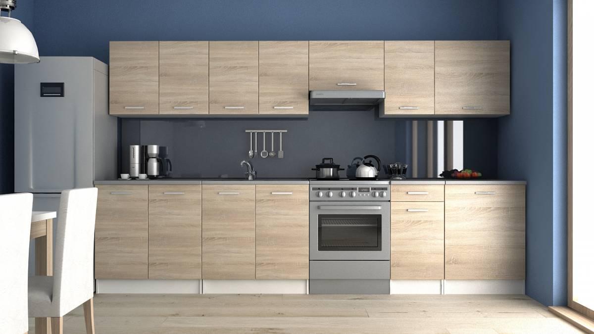 Moderní kuchyňská linka v dekoru dub sonoma 320 cm F1427