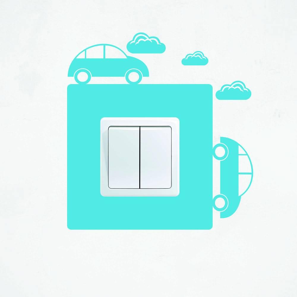 Samolepka na vypínač - Auta