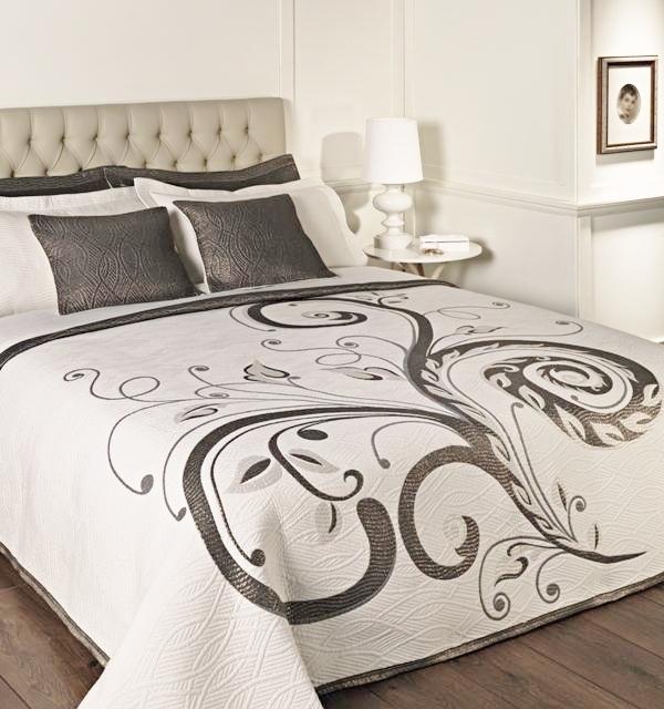 Forbyt  Přehoz na postel, Dominic, černostříbrný 240 x 260 cm