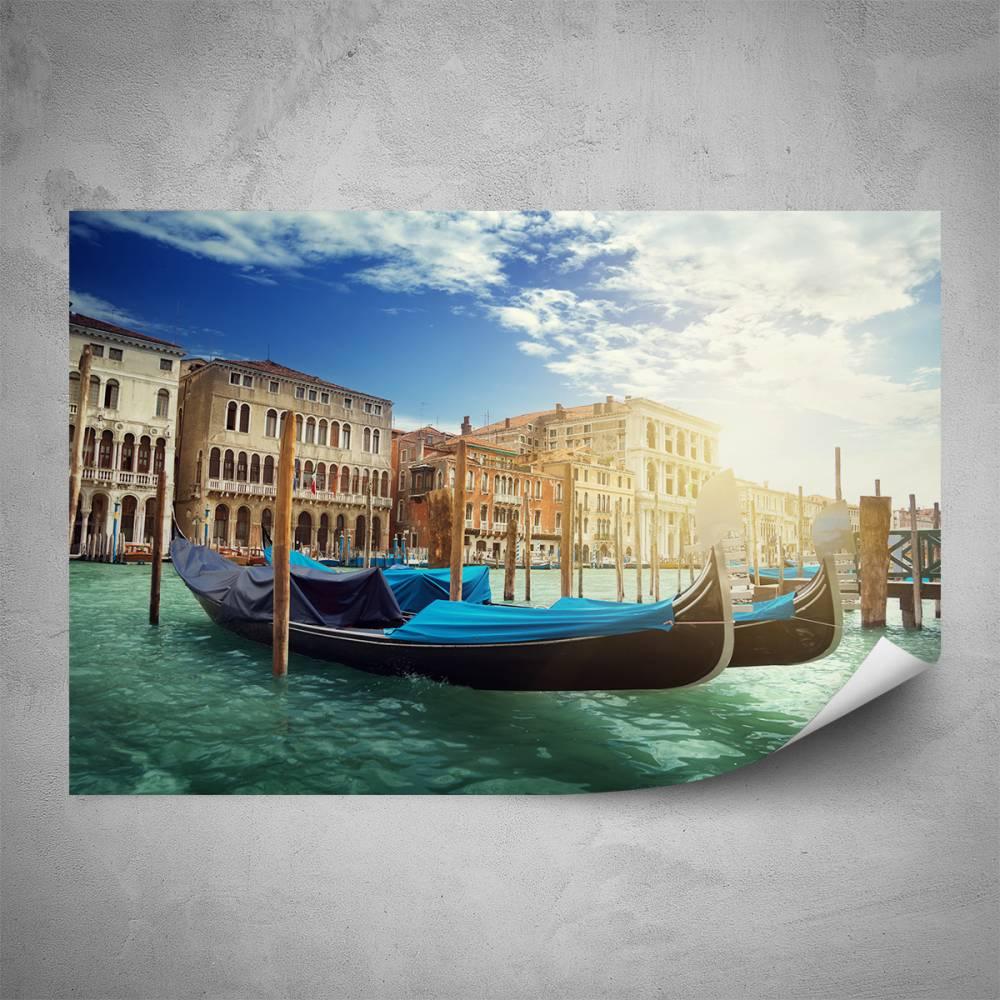 Plakát - Benátské gondoly (60x40 cm)