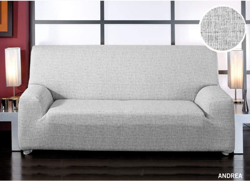 Forbyt, Potah elastický na sedací soupravu, Andrea, bílo-černá   dvojkřeslo - š. 120 - 160 cm