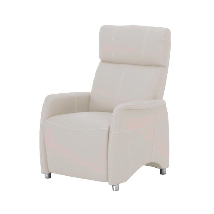 Relaxační křeslo v luxusním provedení textilní kůže bílá FOREST