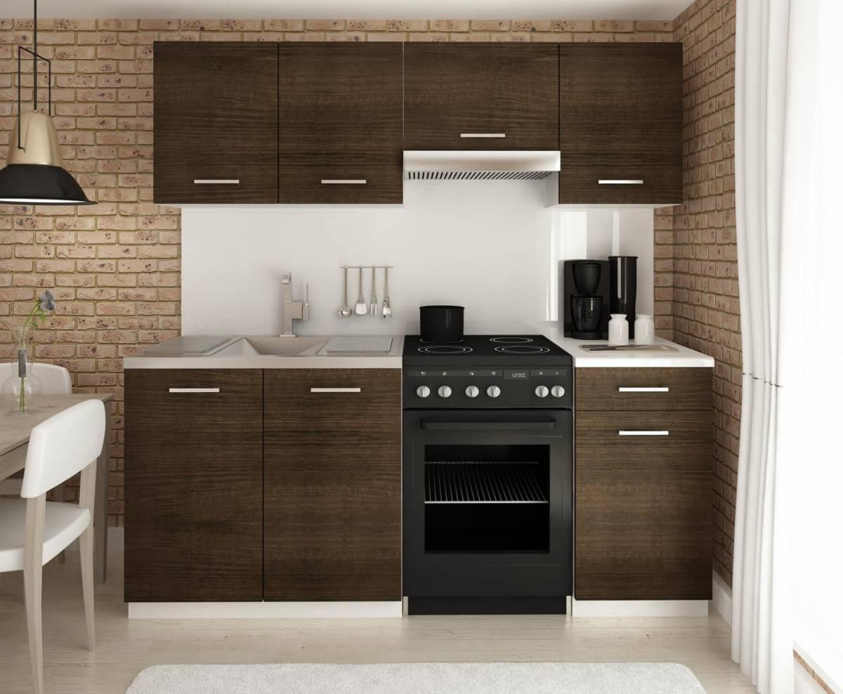 Moderní kuchyňská linka v dekoru dub wenge 180 cm F1427