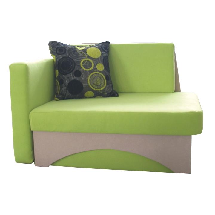 Rozkládací křeslo v moderním designu zelená KUBOŠ levá