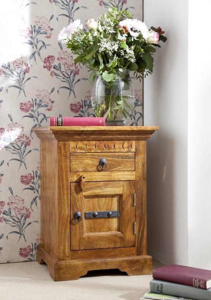 Masiv24 - CAMBRIDGE HONEY noční stolek, masivní akátové dřevo, medová