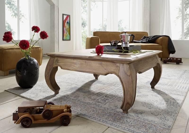 Masiv24 - ORIENT konferenční stolek indický palisandr, světla 90x90cm