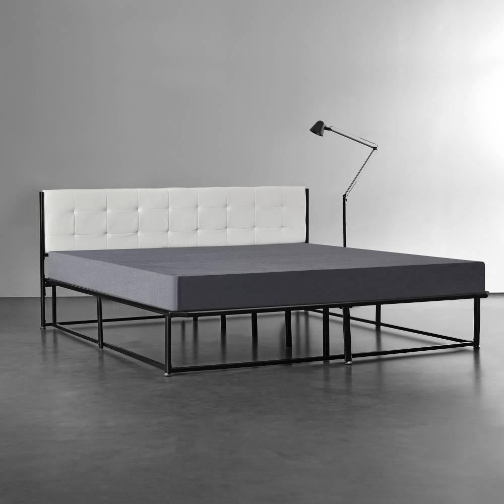 [en.casa]® Kovová postel AANB-0703 - 180 x 200 cm