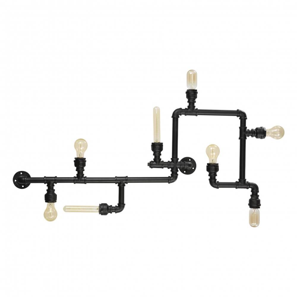 Nástěnné industriální svítidlo z trubek 8xE27