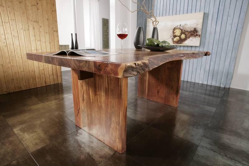 Masiv24 - Stůl METALL 170x110 lakovaný akát