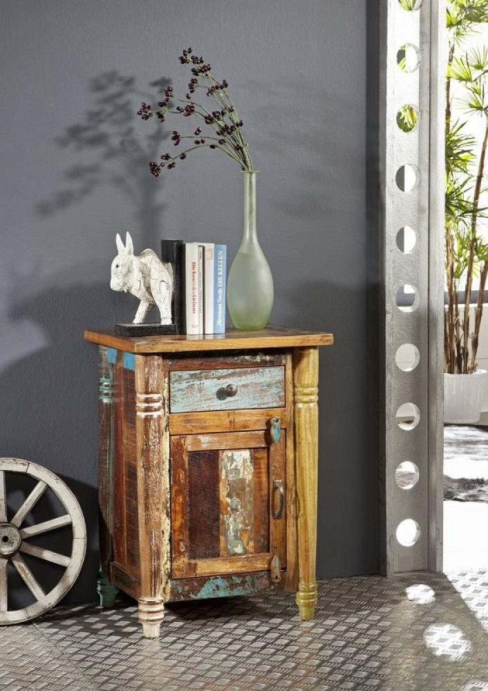 Masiv24 - COLORES noční stolek lakované staré indické dřevo