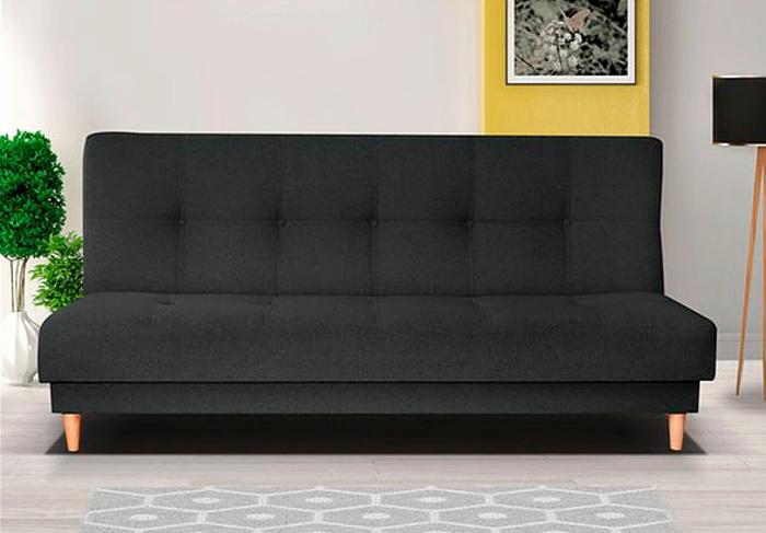 Retro pohovka v černé barvě F1179