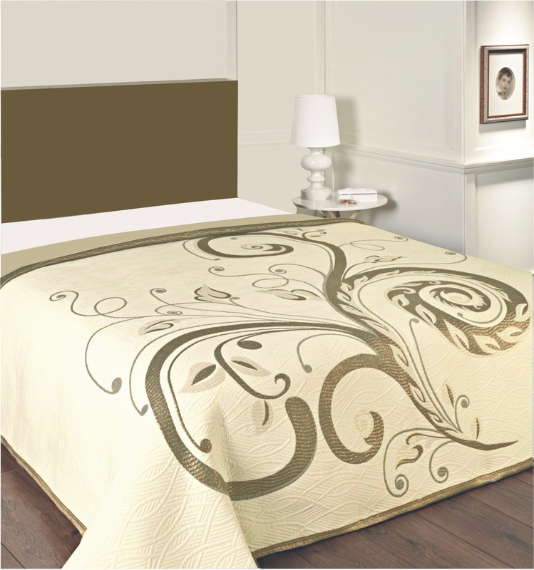 Forbyt  Přehoz na postel, Dominic, hnědozlatý 140 x 220 cm