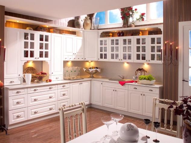 Kuchyňská linka ALINA bílý lak nebo patina 260 cm s možností výběru barvy