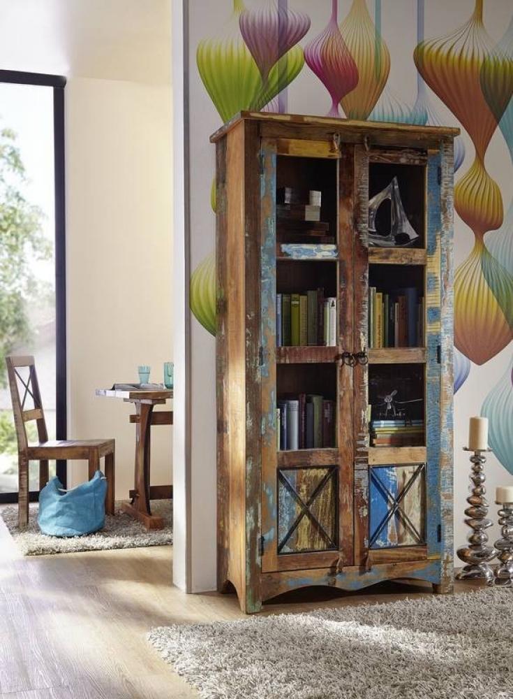 Masiv24 - OLDTIME vitrína lakované staré indické dřevo
