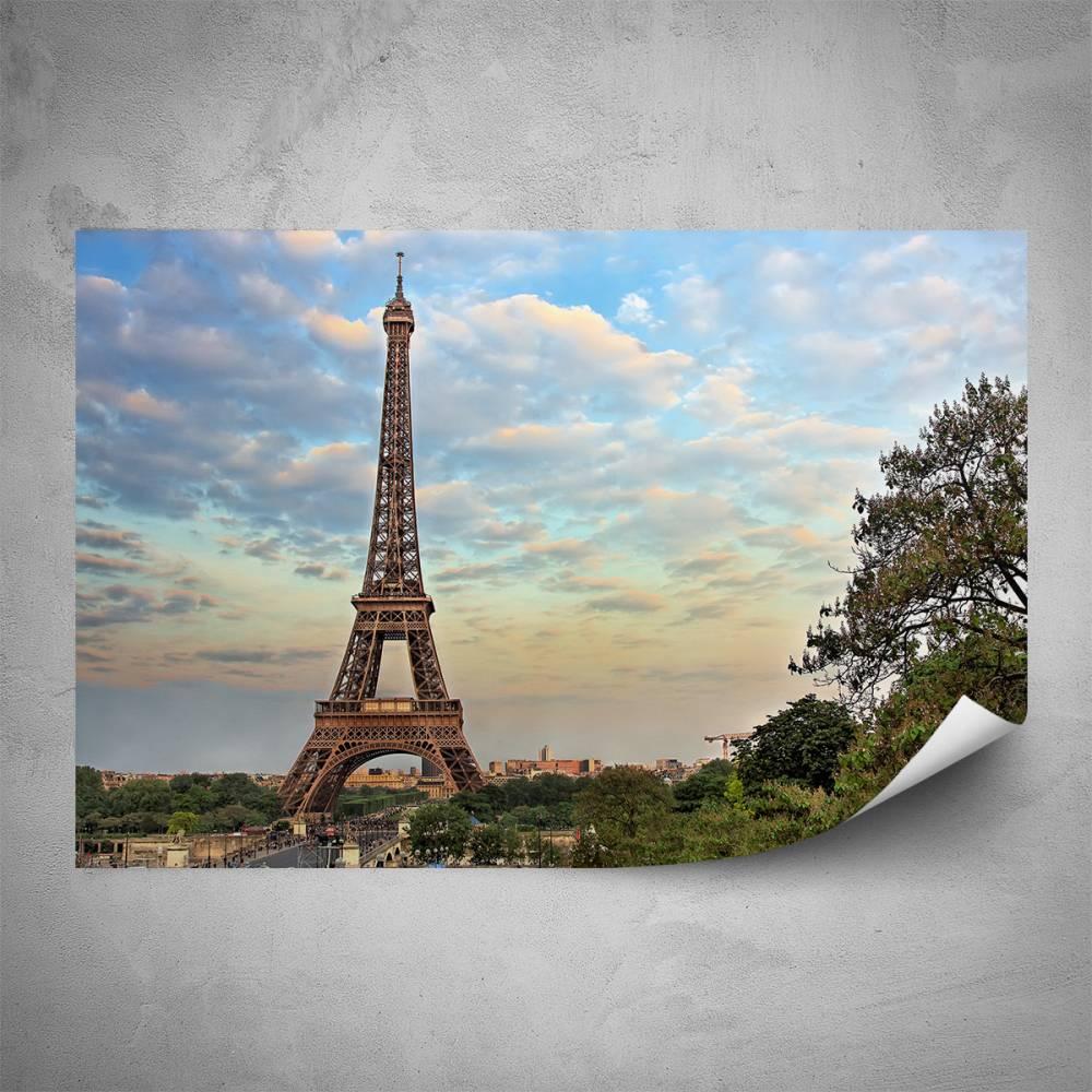 Plakát - Eiffelovka při západu slunce (60x40 cm)