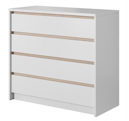 Xelo - Komoda 92,6x90x40,5 cm bílá