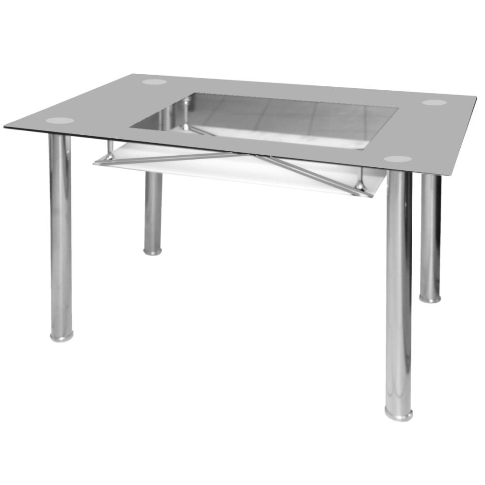 Jídelní stůl skleněný F056 šedý