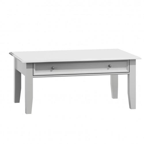 Bílý nábytek Belluno Elegante dřevěný konferenční stolek, bílý, masiv, borovice 232019121