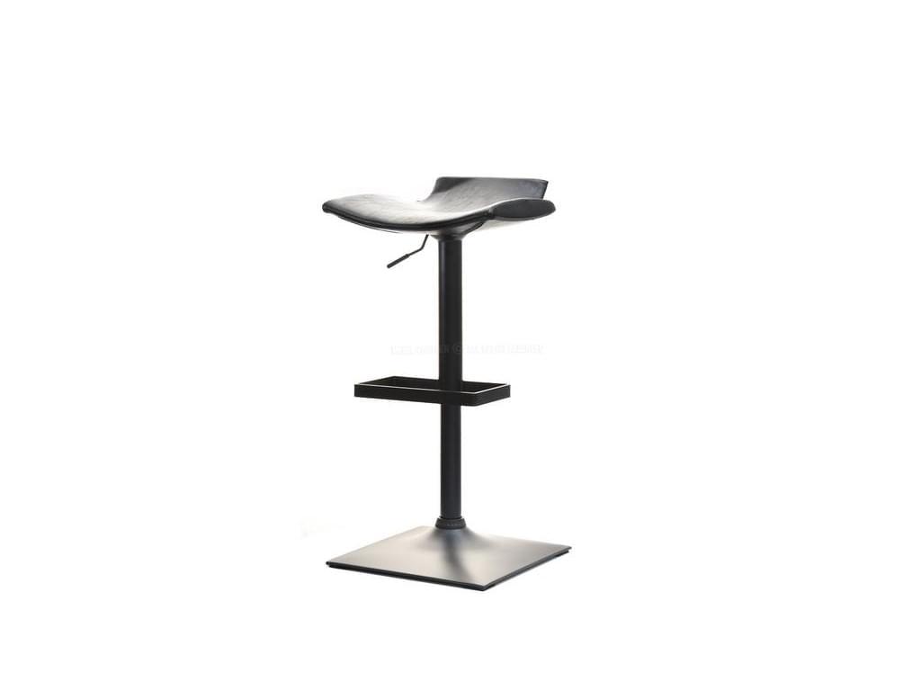 design4life Barová stolička REGEN kůže, matný kov