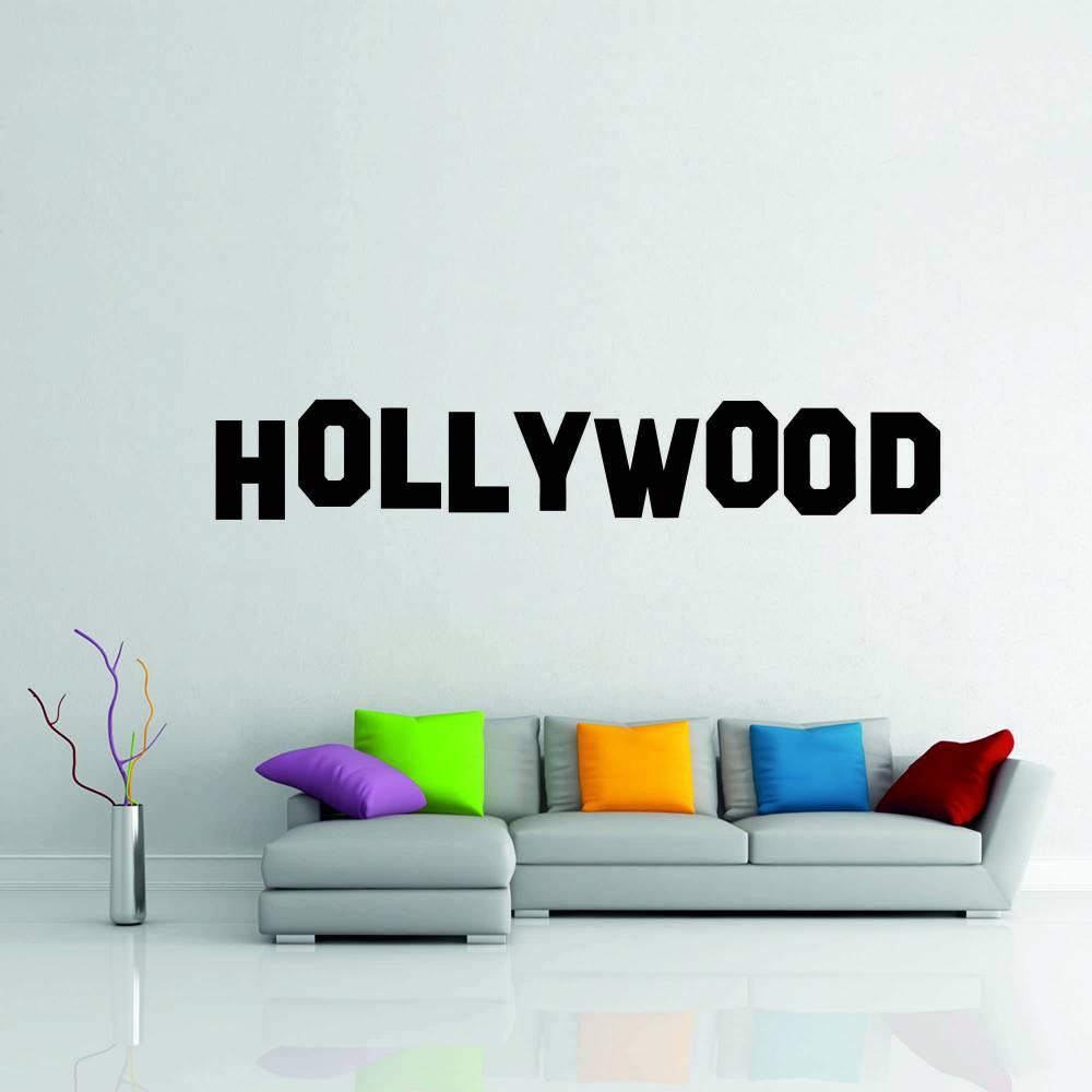 Samolepka na zeď - Hollywood nápis (60x10cm)