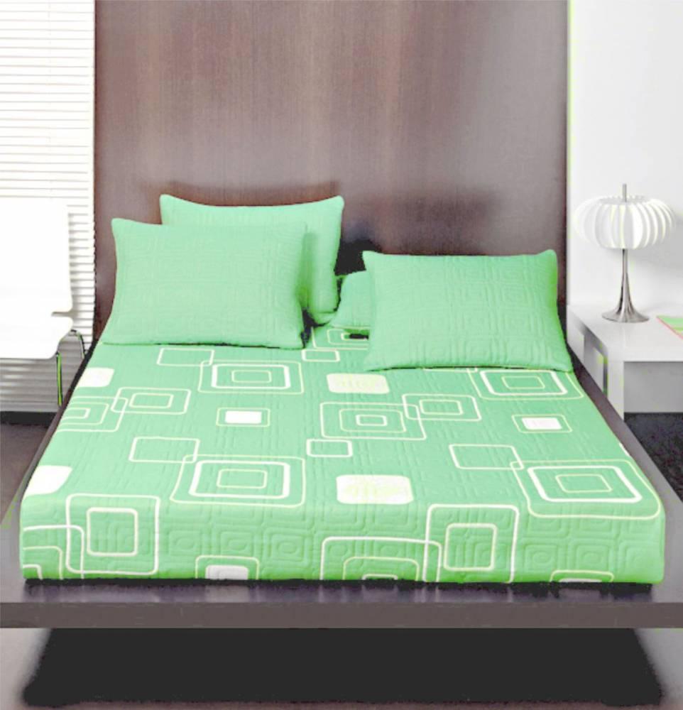 Forbyt  Přehoz na postel s návleky, Yanni, zelený, 240 x 260 cm  zelená 240 x 260 cm + 2 ks 40 x 40 cm