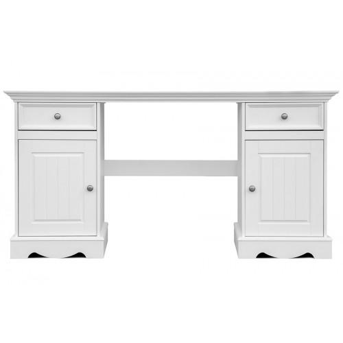 Bílý nábytek Psací stůl Belluno Elegante, bílý, masiv, borovice 328552324