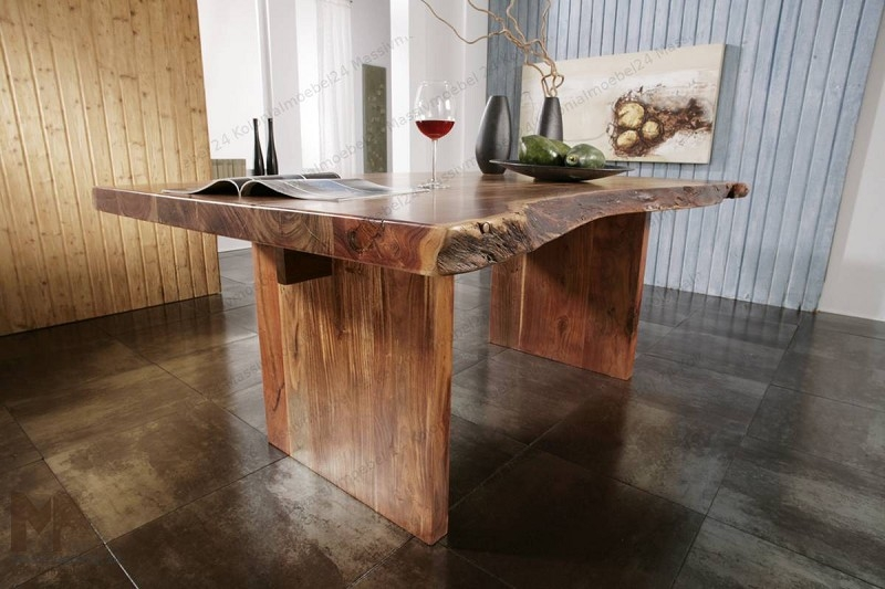 Masiv24 - Stůl METALL 190x110 lakovaný akát