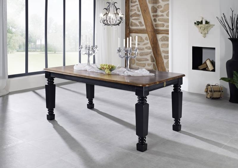 Masiv24 - KOLONIAL jídelní  stůl 220x100cm lakovaný palisandr