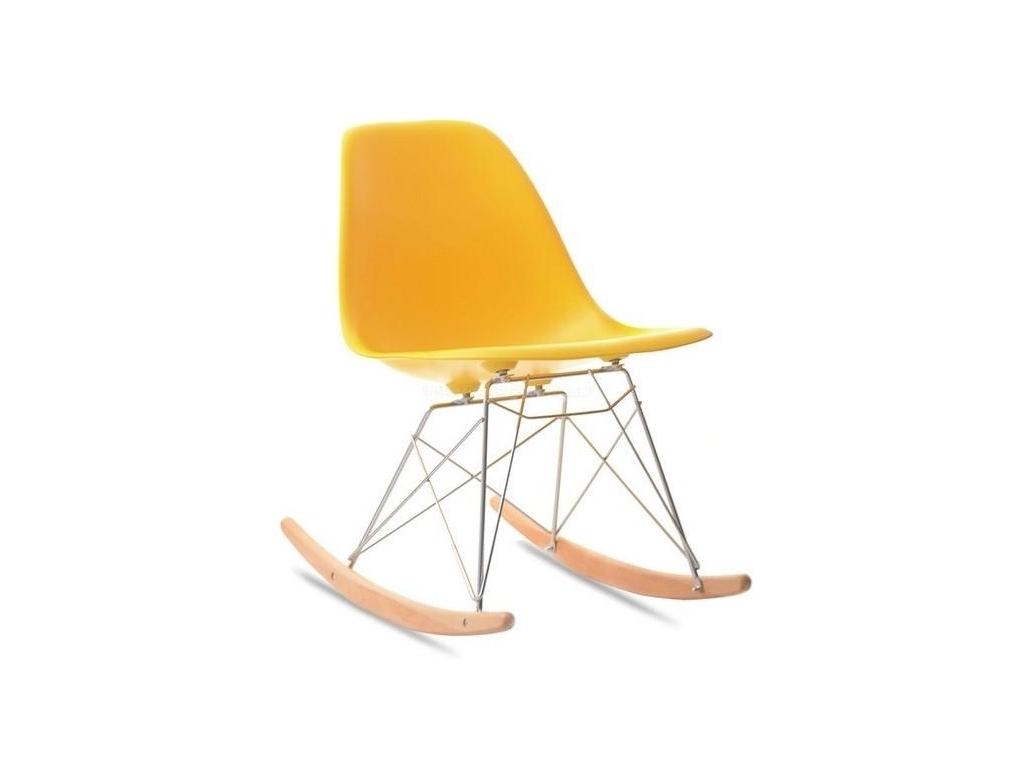 design4life Houpací křeslo MOBI žluté