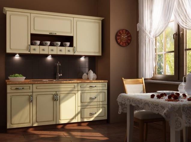 Kuchyňská linka EWA patina 240 cm s možností výběru barvy