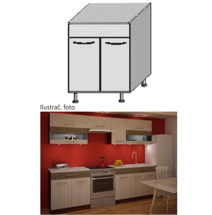Kuchyňská skříňka dřezová, rigoleto light/dark, JURA NEW IA DZ-80