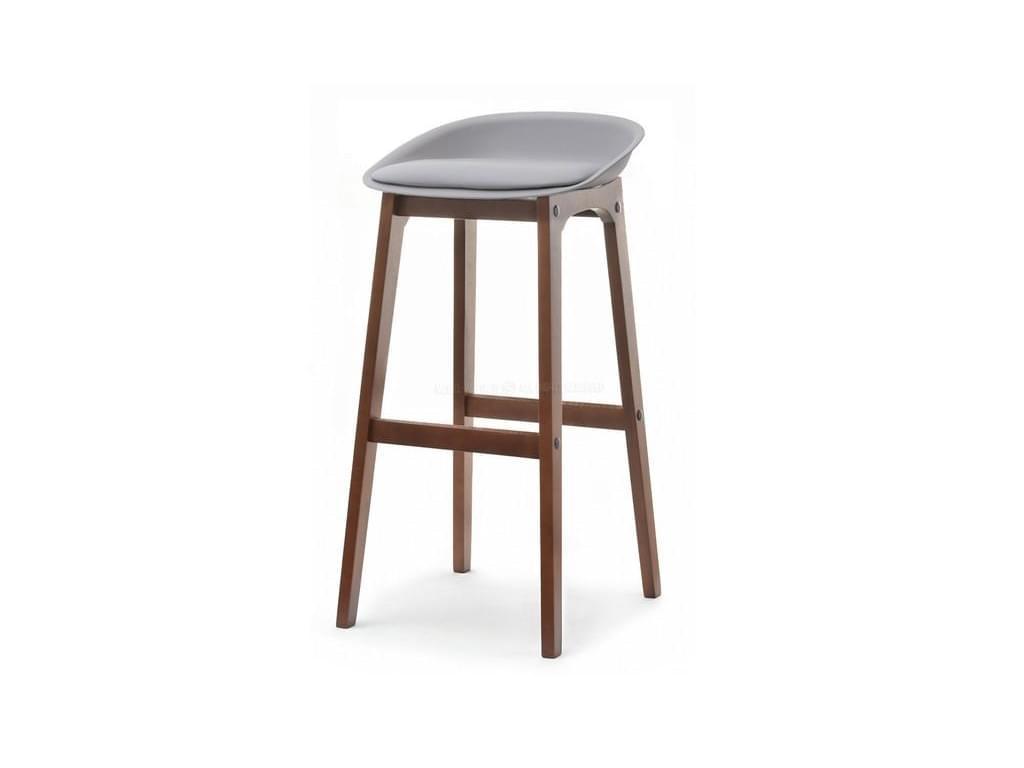 design4life Barová židle LOMELO - LIRO šedá/ořech