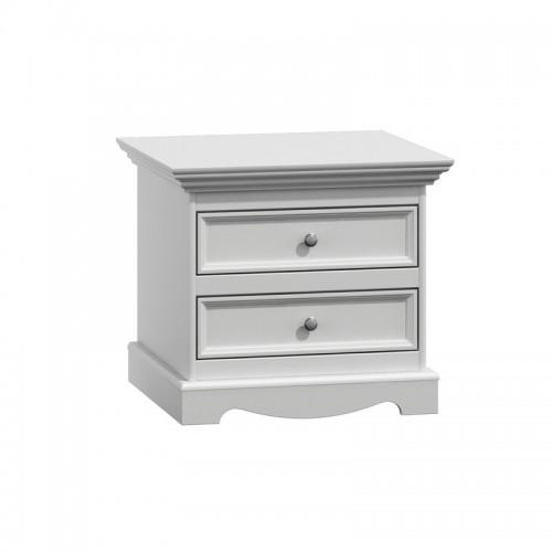Bílý nábytek Noční stolek Belluno Ellegante, bílý, masiv, borovice 232019122