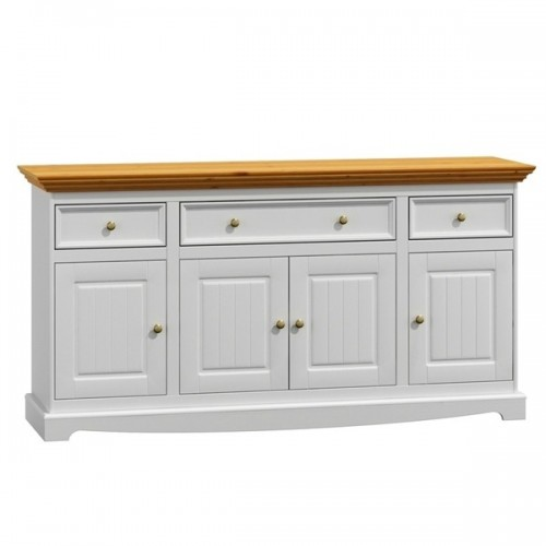 Bílý nábytek Dřevěná komoda Belluno Elegante 4.3, dekor bílá / dub, masiv, borovice 232019154