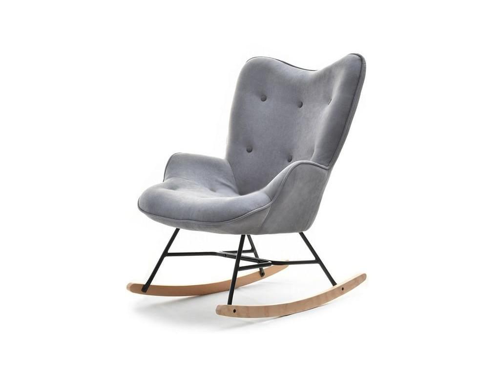 design4life Houpací křeslo SEBILLA šedý velur/výběr barvy podnože