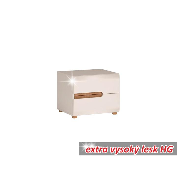Noční stolek v luxusní bílé barvě ve vysokém lesku TK026 TYP 96