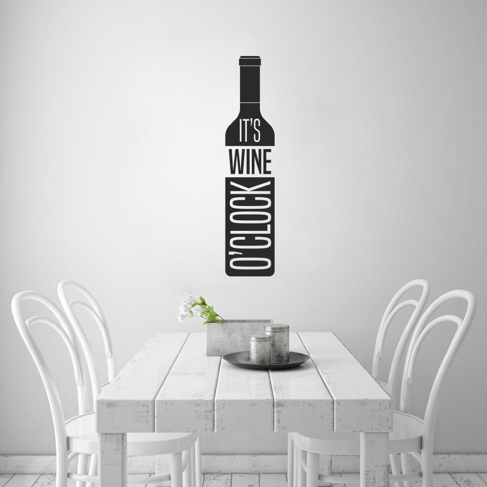 Samolepka na zeď - It´s Wine o´clock (14x60 cm)