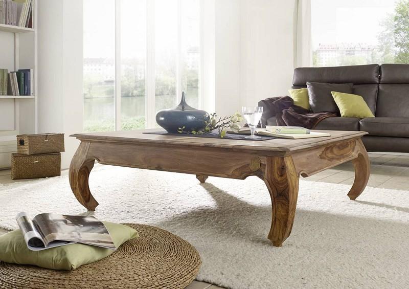 Masiv24 - ORIENT konferenční stolek indický palisandr, světla 120x120cm