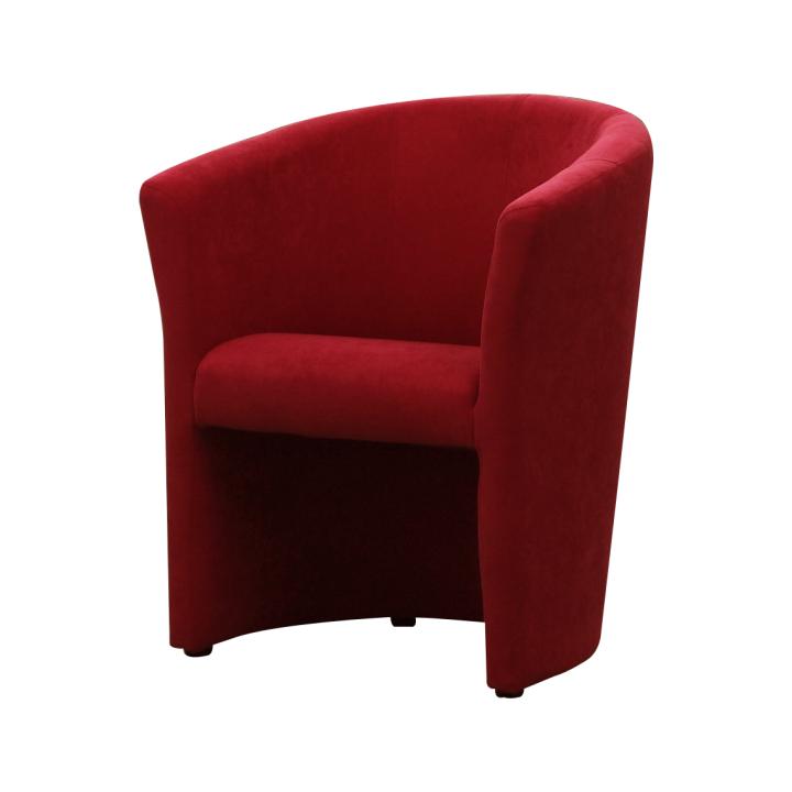 Křeslo v jednoduchém moderním designu červená CUBA