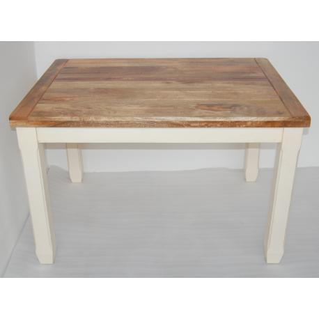 Jídelní stůl Dhari White 170x90 z mangového dřeva  DHARI-W-170