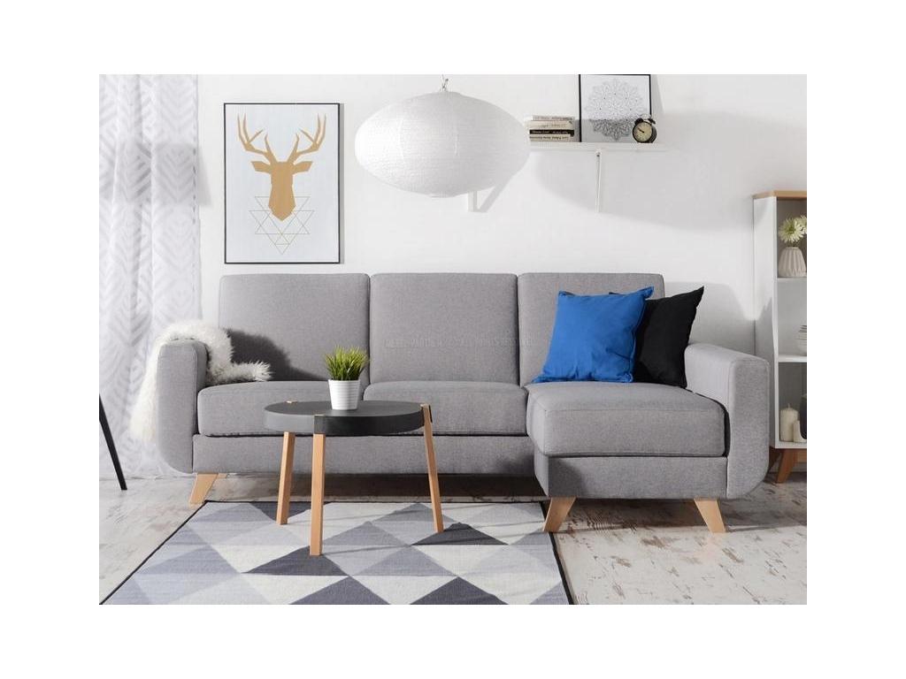 design4life Rozkládací sedačka ALICE šedá