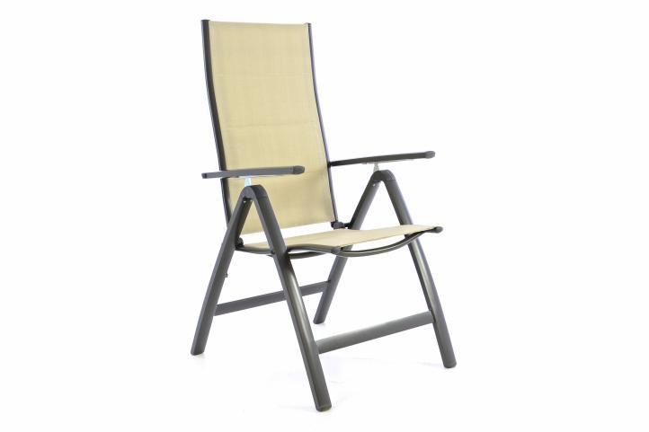 Garthen 40764 Zahradní skládací židle DELUXE - krémová