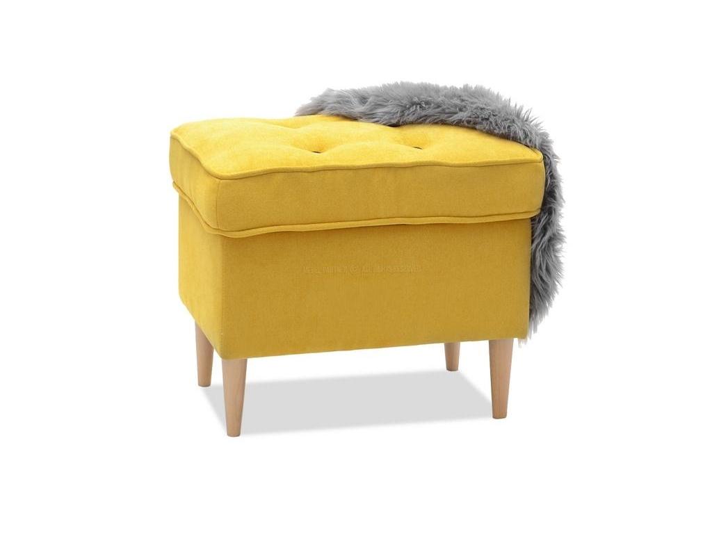 design4life Taburet LISS žlutý