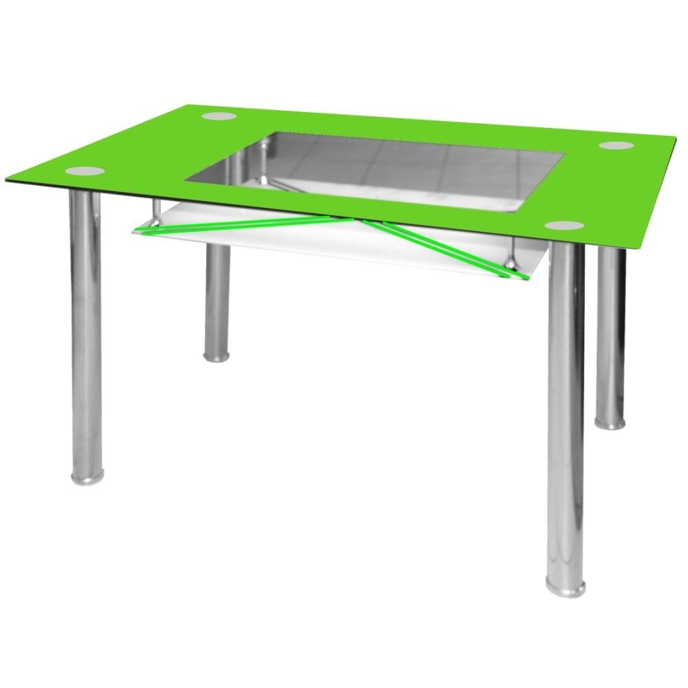 Jídelní stůl skleněný F056 zelený