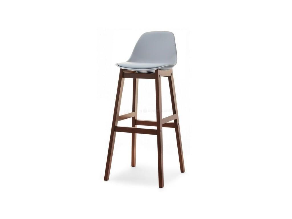 design4life Barová židle LOMELO Šedá/ořech