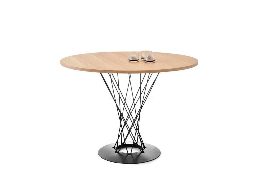 design4life Jídelní stůl ROTAN jasan-černá