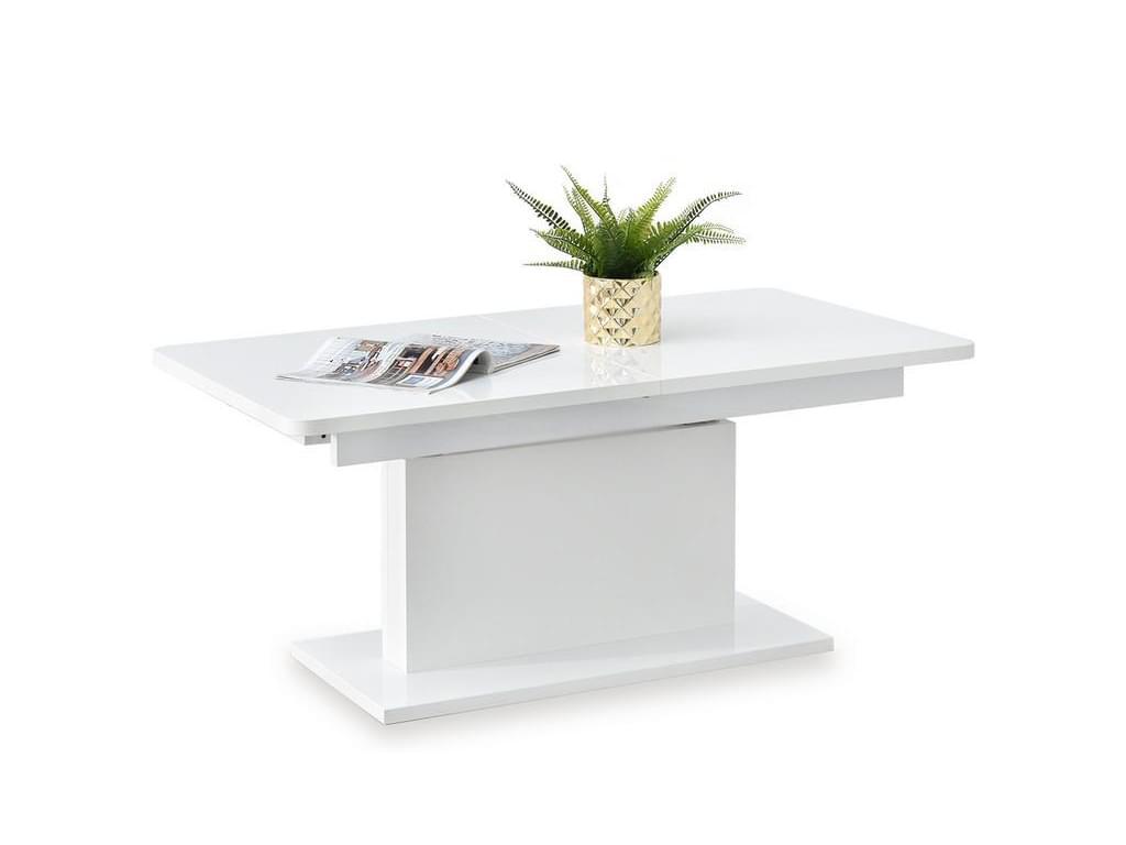 design4life Rozkládací jídelní stůl PRIMA, bílá
