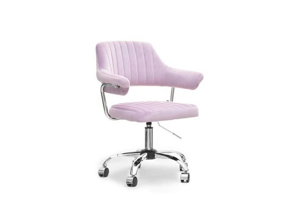 design4life Kancelářská židle GINEVRA samet lila, otáčecí